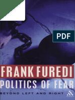 FUREDI, F. Politics of Fear