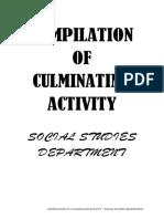 QNHS-Social Studies Department Compilation of Culminating Activity