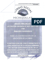 Bases iniciales LP N°03-2017-CE-AFSM Cerco perimetrico Quinuamayo Alto 2da Convocatoria