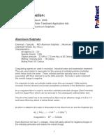 Tech Info Aluminum Sulphate