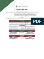 Cursos IBEC 2017 - Segunda Campaña