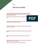 Defectos en La Madera
