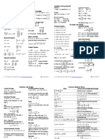 Algebra Cheat Sheet Reduced
