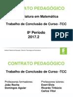 Contrato Pedagógico - TCC - 2017