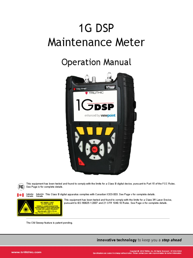 1g Dsp Operation Manual 071816 Rev 2 Federal Communications 10led Bargraph Indicator Circuit Diagram Tradeoficcom Commission Laser