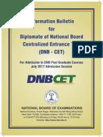 DNB CET Information Bulletin 2017