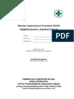 8.1.1.1 Sop Pemeriksaan Laboratorium