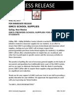 gmcs press release school supplies