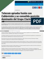 Telecom Aprueba Fusion Con Cablevision