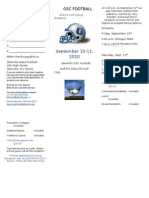 Golf Outing Registration Form