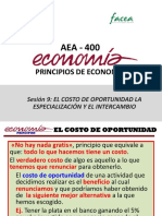 Sesión 9-AEA400 Costo de Oportunidad. Especialización e Intercambio