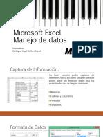 MS Excel Manejo Datos
