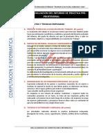 Criterios de Evaluacion Del Informe de Practica Pre