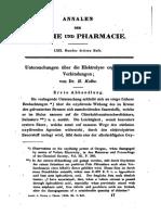 KOLBE-1849-PAPER-Untersuchungen Ueber Die Elektrolyse Organischer Verbindungen