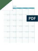 Blank Monthly Calendar 1