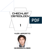 Checklist Anatomy Osteology