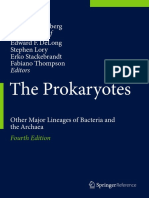 Preview of the Prokaryotes Other Major Lineages of Bacteria and the Archaea