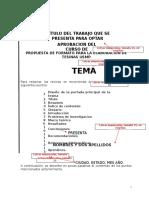 Formato de Tesina