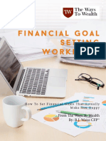 Financial Goal Setting Workbook-way to Wealth