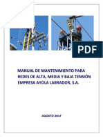 345118945 Manual de Mantenimiento Para Redes de Alta Media y Baja Tension