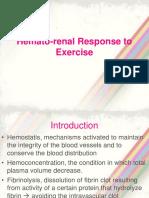 Hematorenal Response to Exercise