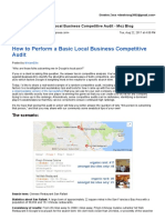 How to Perform a Basic Local Business Competitive Audit