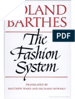 Roland Barthed - The Fashion System