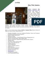 Statistics Assignment - onlineassignmenthelp.com.au