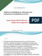 Políticas Contabilísticas, Alterações Nas Estimativas Contabilísticas e Erros