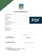 Form Pendaftaran Kklp
