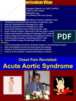 3. Chest Pain Revisited Acute Aortic Syndrome Prof DS
