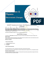 NCERT Solutions for Class 12th Physics-Electrostatic Charges .
