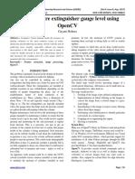 Analysis of fire extinguisher gauge level using OpenCV