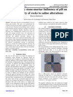 Incompatibility stone-mortar Influence of pH on the sensitivity of rocks to saline alterations