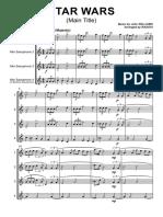 Star Wars - John Williams - Full Score - Saxophone Quartet