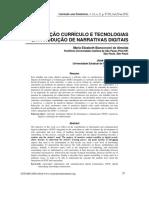 INTEGRAÇÃO CURRÍCULO E TECNOLOGIAS E A PRODUÇÃO DE NARRATIVAS DIGITAIS