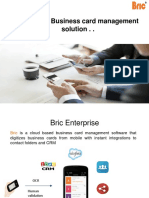 Bric app - Free Business card scanner & manager.