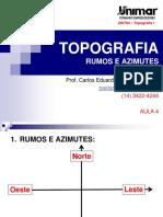 200784-TOPOGRAFIA I - AULA 04 - Rumos e Azimutes.pdf