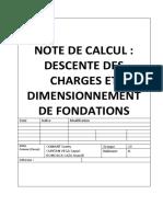 Exemple Descente de Charges