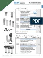 Tratamiento Agua Tarifa PVP SalvadorEscoda.2017