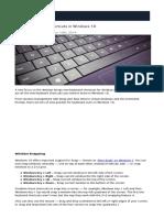 32 New Keyboard Shortcuts in Windows 10