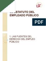 Tema 2.1 y 2.2. Fuentes Del Derecho Del Empleo Público. Clases de Empleados Públicos