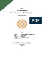 Tugas 2 Budaya Organisasi Dengan Tema Peran Budaya Organisasi Dalam Meningkatkan Semangat Kerja