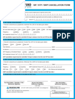 Sip Stp Swp Cancellation Form