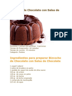 Bizcocho de Chocolate Con Salsa de Chocolate