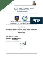 Trabajo de glaciología-Estimación de volumen de pérdida de glaciar con imágenes satelitales