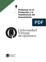 MTS-CASAS-Problemas en La Produccion y Transferencia de Conocimiento