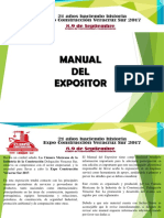 Manual Para Expositor 2017
