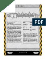 Rogue Trader Huang He Freighter Data Sheet