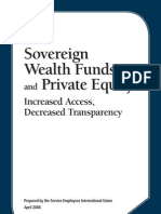 Sovereign Wealth Funds and Private Equity Final Report April 2008